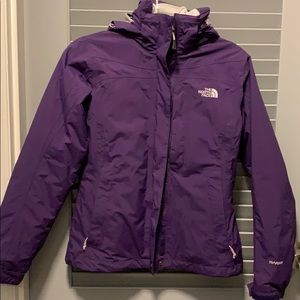 North face jacket with zipped in liner